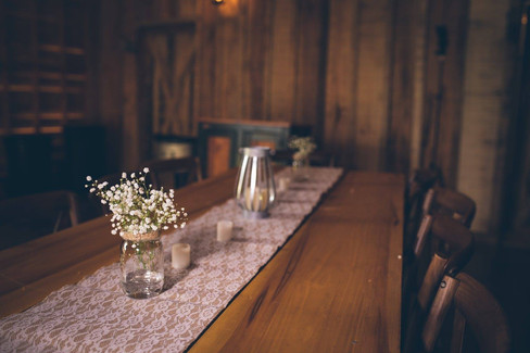 Table decor |The Wedding Barn at L'Horne