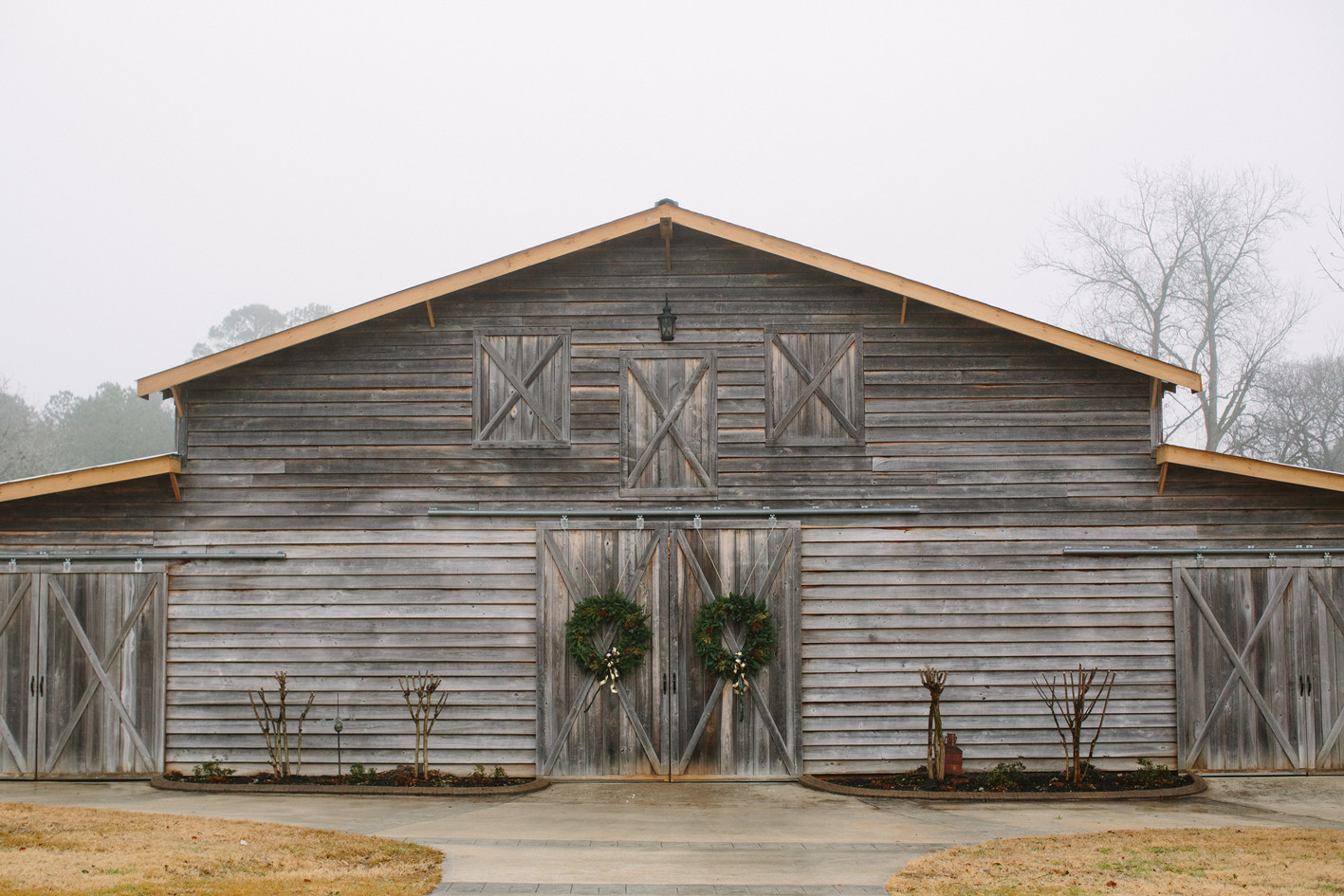 front of the grand barn