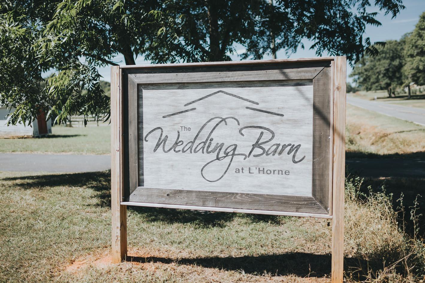 Wedding Barn Sign