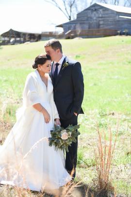 Megan & Grant in tall grass