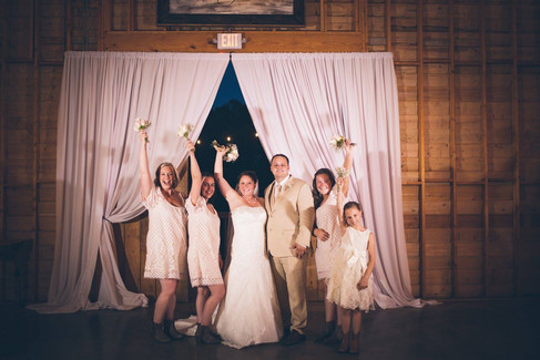 The new family |The Wedding Barn at L'Horne