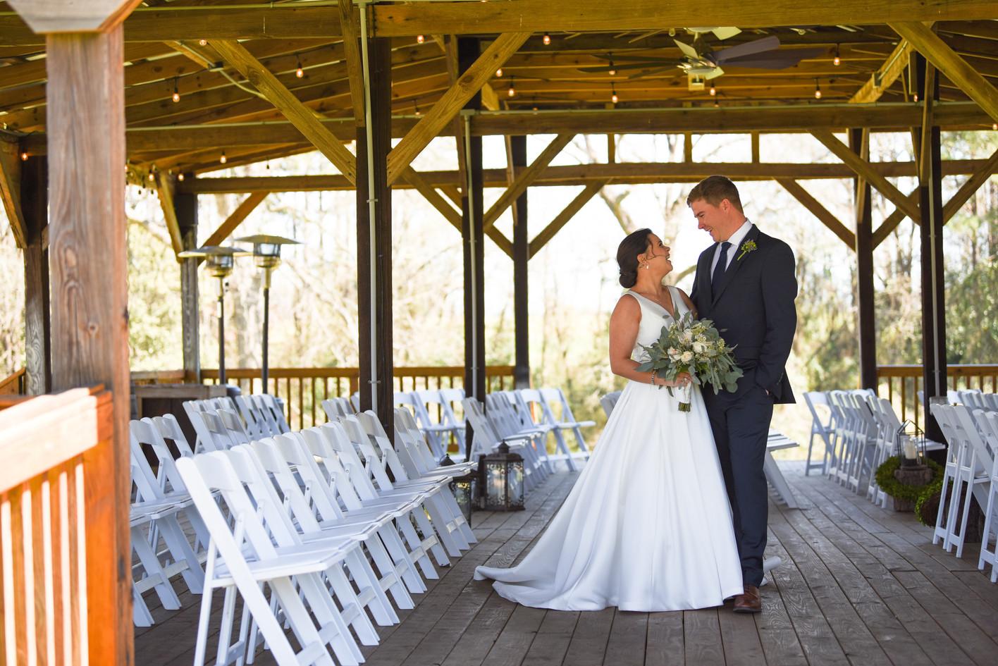 Megan & Grant in pole barn