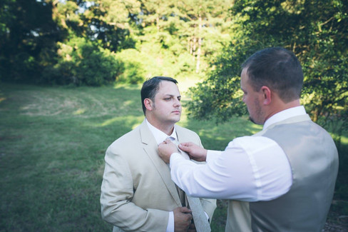 Fixing Tie |The Wedding Barn at L'Horne