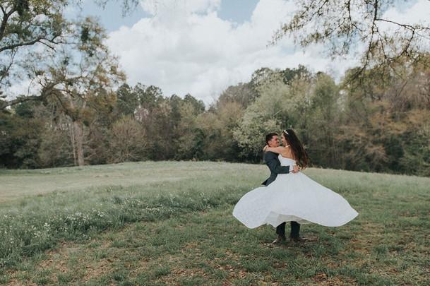 Amanda & Adam twirling