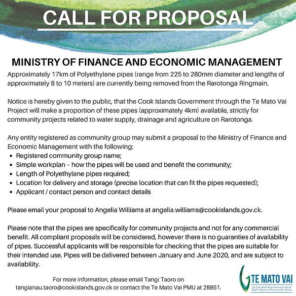 200116_Call for proposal - PE Pipes Comm