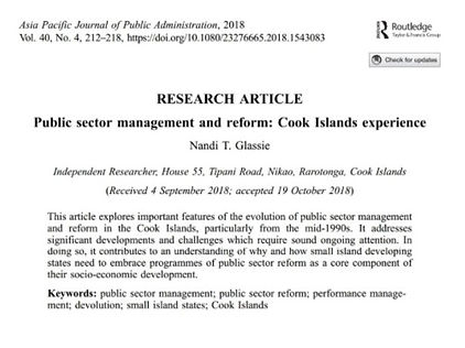 Public Sector Management and reform_Cook