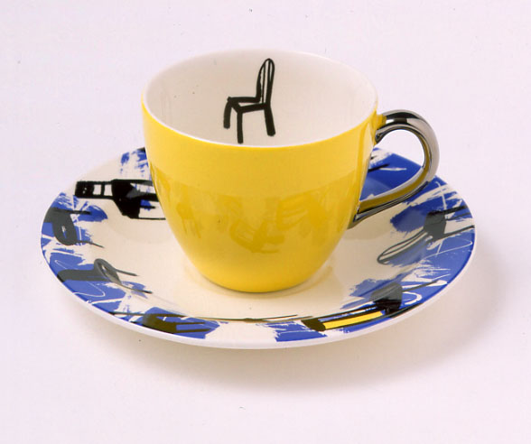 """""""getting blue""""cup&saucer"""