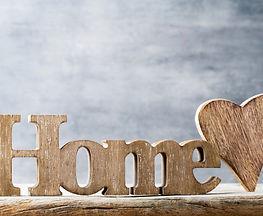 Home. Decor home. Message written in heart wooden blocks..jpg