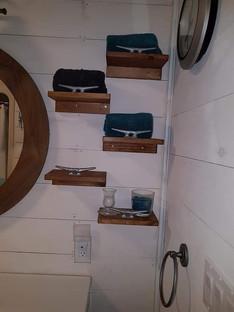 boat cleat floating shelves