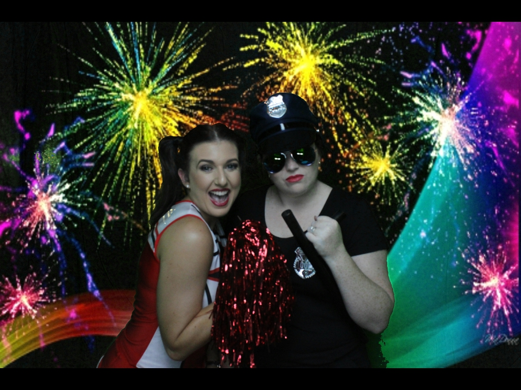 Fireworks in the Green Screen Booth