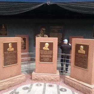 L-R; Lou Gehreg, Miller Huggins, Babe Ruth