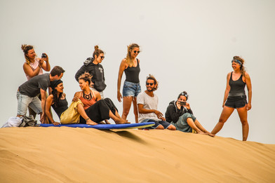 sand surfing morocco