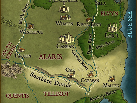 Map revealed for next YA/Teen fantasy series!