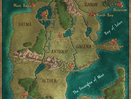 Map Reveal for my new book series