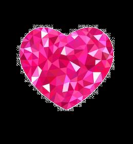 raspberry-heart-triangulation-polygonal-
