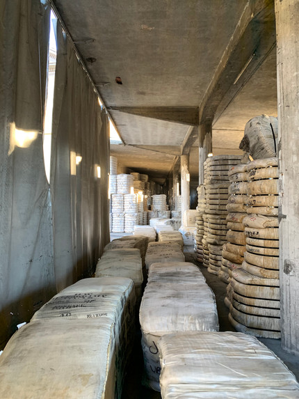 Visiting Romagnano Sesia's combing wool factory