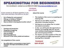 Speaking Thai for beginners