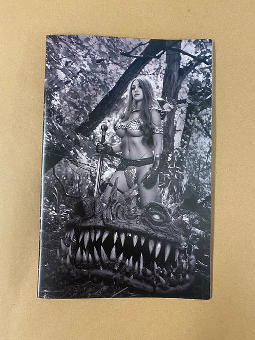 Red Sonja Black White Red (Greyscale) #2