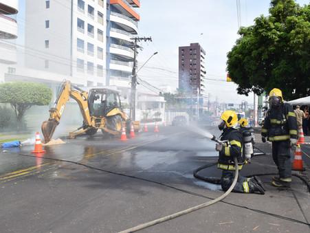 Simulado aperfeiçoa ações de segurança com gás natural no Distrito