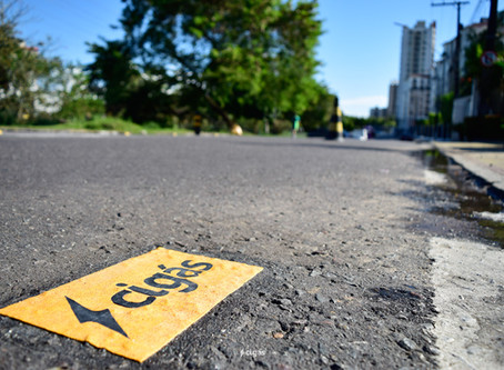 Cigás adota sinalização para preservar asfalto das ruas de Manaus