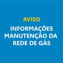 Informações Manutenção da rede de gás