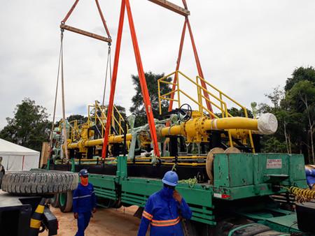 Equipamento da Cigás chega em Azulão para atender projeto Jaguatirica II