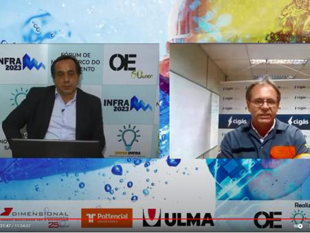 Cigás participa do evento on-line de premiação do Inovainfra