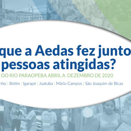 Balanço 2020: Aedas apresenta histórico do trabalho realizado nas regiões 1 e 2