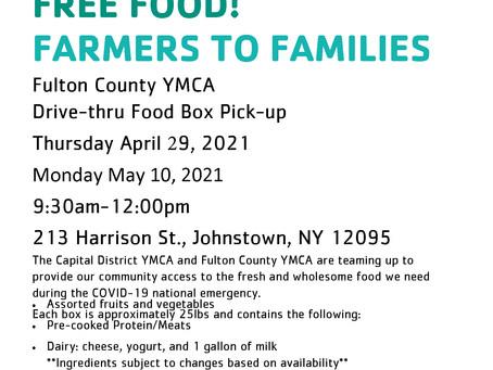 Upcoming Farmers to Families Food Box Distribution
