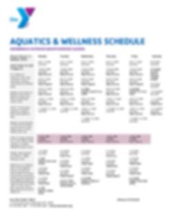 Wellness Schedule Summer 2020 Reopen Rou