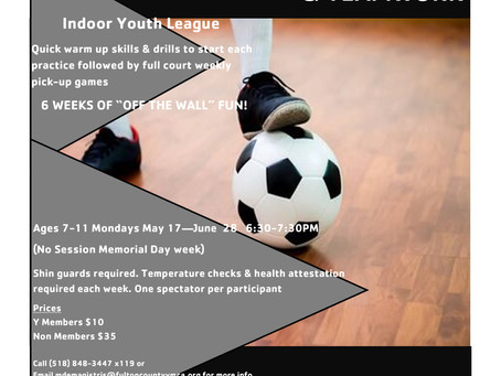 Youth Indoor Soccer League Updated Schedule