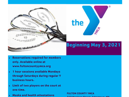 Racquetball Returns May 3