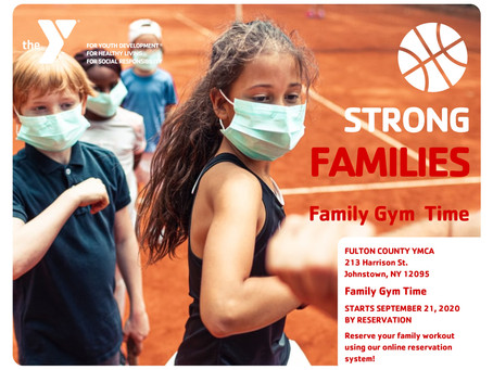 Family Gym Time Starts Monday!