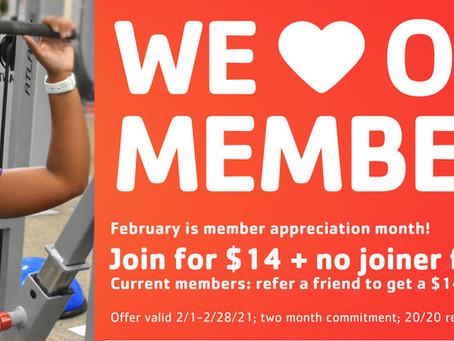 February Membership Promotion