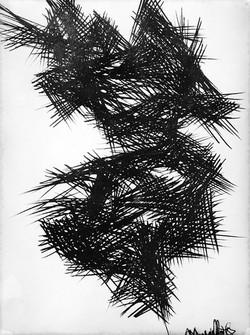 Albero - disegno su carta - 1957