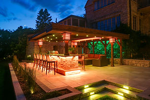 Landscape, Lighting, Design-Build, Des Moines, Johnston, West Des Moines, Urbandale, Ankeny, Waukee, Iowa, IA, Pergolas, Fire Pits, Decks, Bars, Retaining Walls