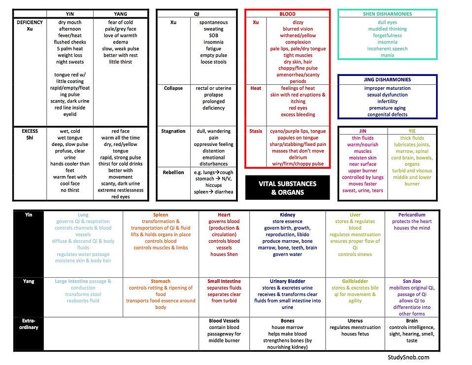 Vital Substances and Organs for Oriental Medicine