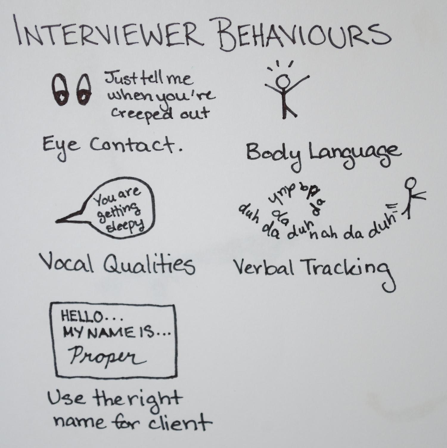 Interviewer Behaviours