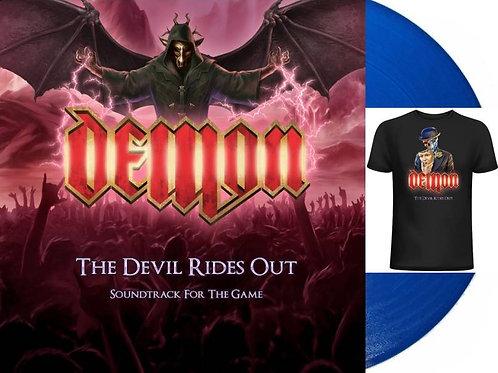 Demon - The Devil Rides Out Ltd BLUE Vinyl + T-shirt