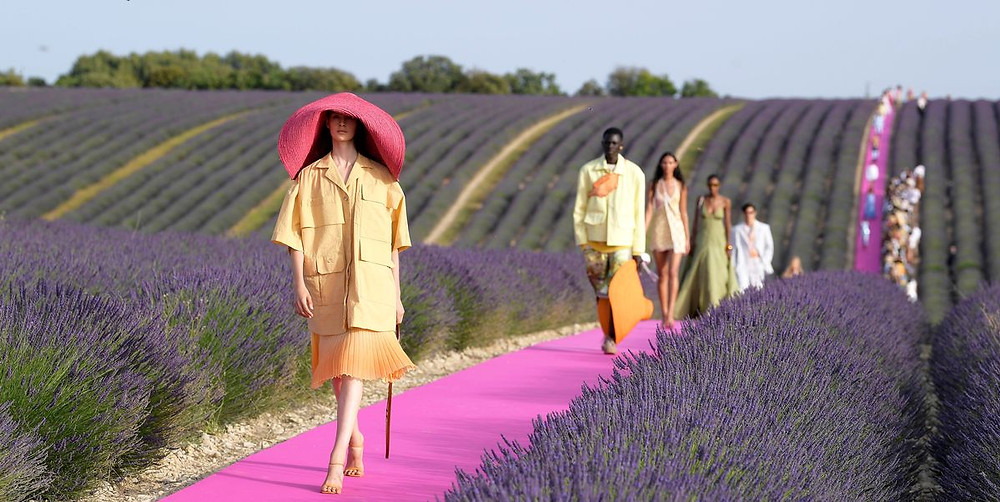"""Jacquemus's spring 2020 show was """"off-everything,"""" according to producer Alexandre de Betak, but thanks to a dedicated fan base that traveled to Provence, France, for the show, it still had a lasting impact."""