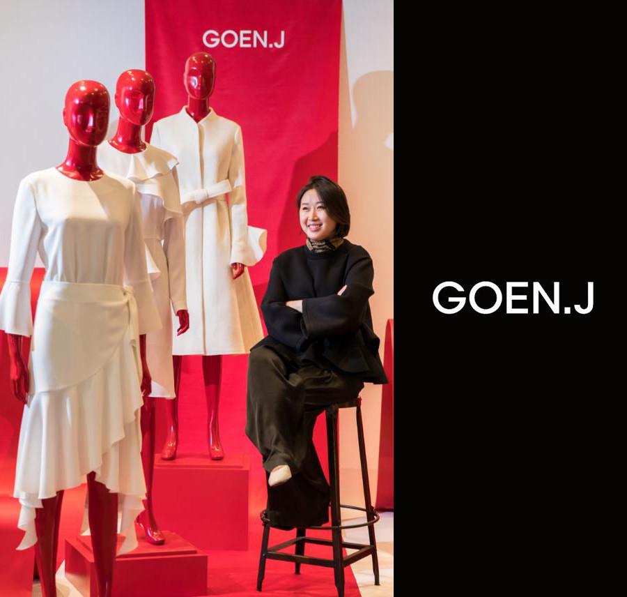 Goen Jong, the founder and fasion designer of GOEN.J.
