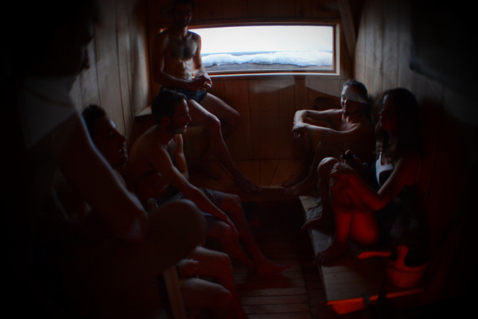 Un sauna au village Igloo Pelvoo