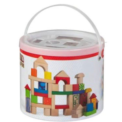 CUBO 50 BLOQUES MADERA COLORBABY