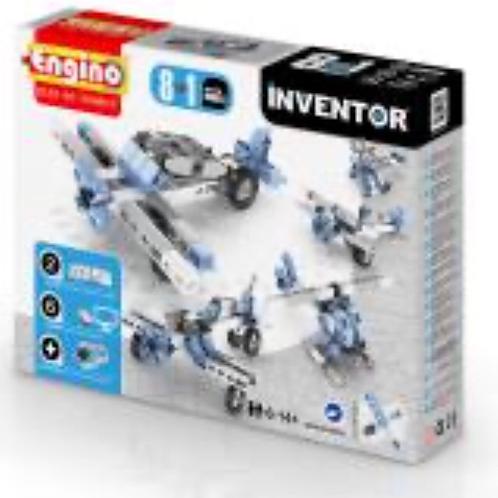 CONSTRUCCION INVENTOR AVIONES 8 EN 1 ENGINO