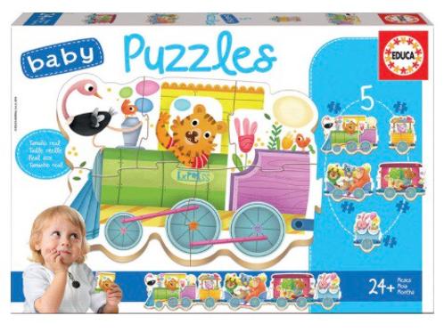 BABY PUZZLE EDUCA EL TREN DE LOS ANIMALES