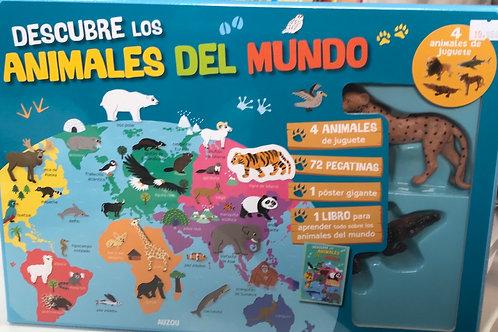 DESCUBRE LOS ANIMALES DEL MUNDO AUZOU
