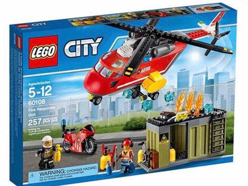 LEGO 60108 UNIDAD DE LUCHA CONTRA INCENDIOS