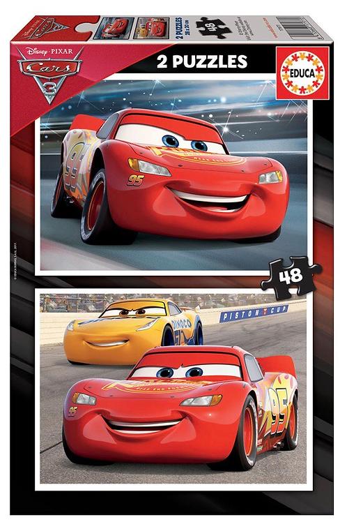 PUZZLE EDUCA 2x48 PIEZAS CARS
