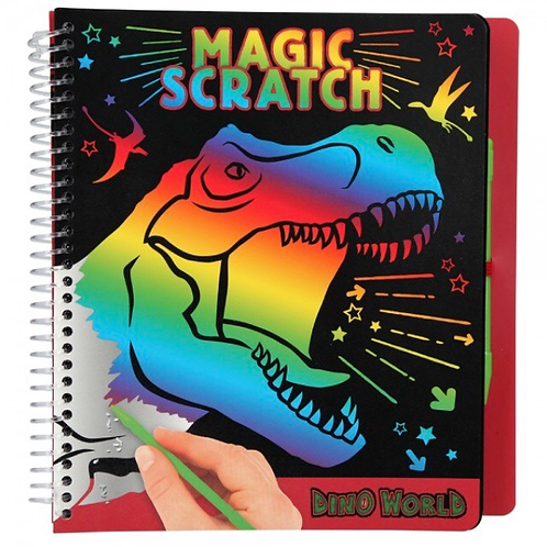 CUADERNO MAGIC SCRATCH DINO