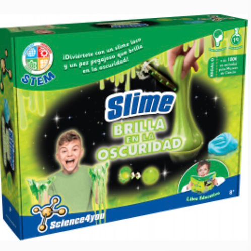 FÁBRICA SLIME BRILLA EN LA OSCURIDAD SCIENCE4YOU